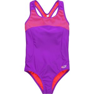 Big Chill Two-Tone One Piece Swimsuit - Girls'