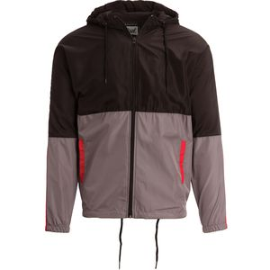 Beautiful Giant Colorblock Hooded Zip-Up Windbreaker - Men's