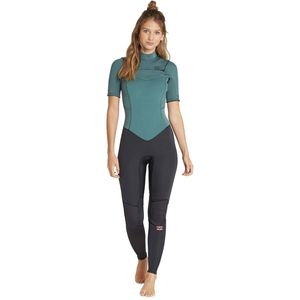 Billabong 2mm Furnace Synergy Chest-Zip Short-Sleeve Full Wetsuit - Women's