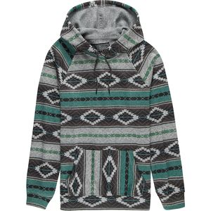Brooklyn Cloth Baja Stripe Printed Cozy Knit Crossover Neck Hoodie - Men's
