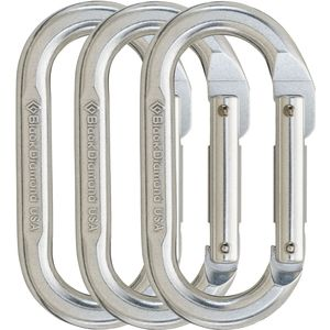 Black Diamond Oval Carabiner - 3-Pack
