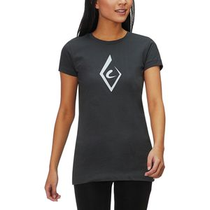 Black Diamond Brushstroke Short-Sleeve T-Shirt - Women's