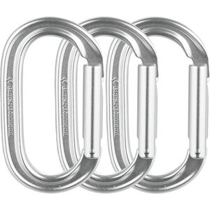 Black Diamond Oval Keylock Carabiner - 3-Pack