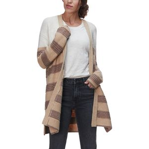 Basin and Range Stripe Boucle Cardigan Sweater - Women's