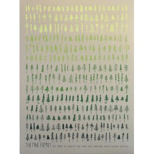 Brainstorm Pine Family On Kraft Screenprint