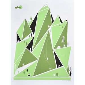 Brainstorm Mountain Hiking Screenprint