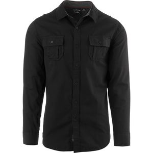 Burnside Solid DP Button Down Long-Sleeve Shirt - Men's