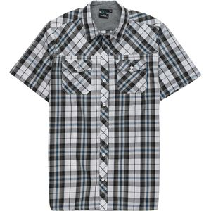 Burnside Two Pocket Woven Short-Sleeve Plaid Shirt - Men's