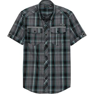 Burnside Plaid 2 Pocket Short-Sleeve Shirt - Men's