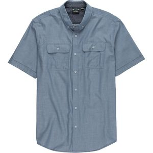 Burnside Short-Sleeve Novelty Button-Down Shirt - Men's