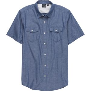 Burnside Novelty Textured Short-Sleeve Shirt - Men's