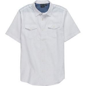 Burnside Textured Short-Sleeve Button-Down Shirt- Men's
