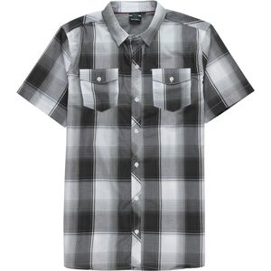 Burnside White Short-Sleeve Woven Plaid Shirt - Men's