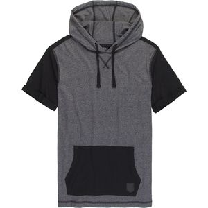Burnside Trails Jersey Melange Short Sleeve Hoodie - Men's