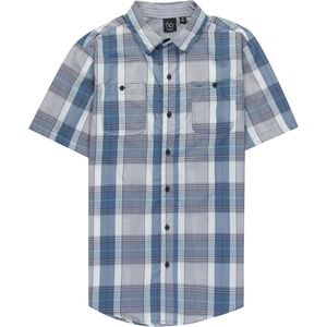 Burnside Austin Yarn Dye Plaid Woven Short Sleeve Shirt - Men's