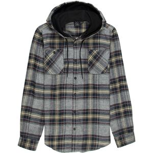 Burnside Hayride Flannel Hooded Long-Sleeve Shirt Shirt - Men's