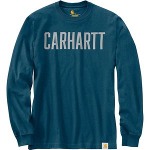 Carhartt Workwear Block Logo Graphic Long-Sleeve T-Shirt - Men's
