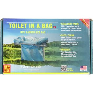 Cleanwaste Toilet in a Bag - 30 Pack