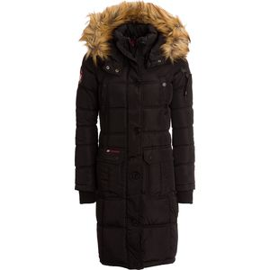 Canada Weather Gear Long Faux Fur Hooded Bubble Jacket with Pockets - Women's