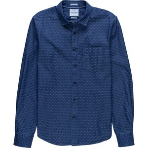 Denim and Flower Denim Button-Up Shirt - Men's