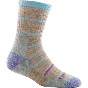 Darn Tough Summit Stripe Micro Crew Cushion Sock - Women's