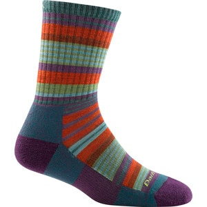 Darn Tough Merino Wool Sierra Stripe Jr. Light Cushion Micro Crew Socks - Girls'