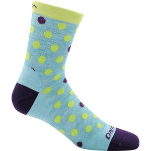 Darn Tough Dot And Strip Micro Crew Light Sock - Girls'