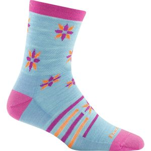 Darn Tough Indie Floral Crew Light Sock - Girls'