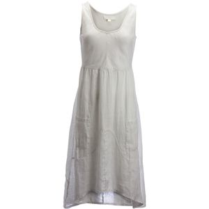 Dylan Rib Knit & Linen Tank Dress - Women's