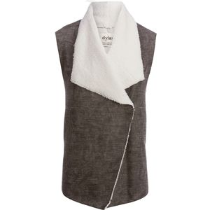 Dylan Distressed Bonded Sherpa Snap Vest - Women's