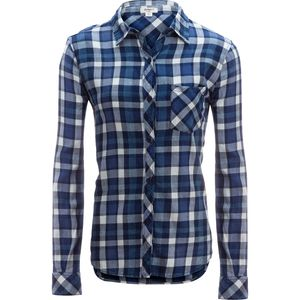 Dylan Super Washed Indigo Plaid 1 Pocket Shirt - Women's