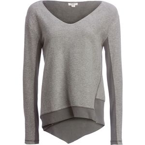 Dylan Fuzzy Face Brushed Back Vintage Fleece V-Neck Sweater - Women's