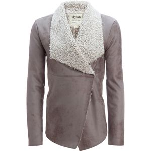 Dylan Frosty Tipped Shearling Snap Jacket - Women's