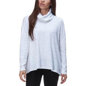 Dylan Fuzzy Flecked Fleece Cowl Neck Sweater - Women's