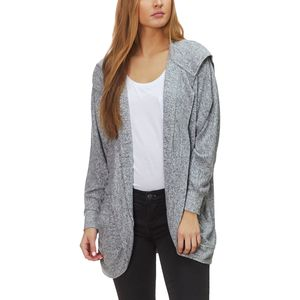 Dylan Marled Sweater Fleece Hooded Cardi Jacket - Women's