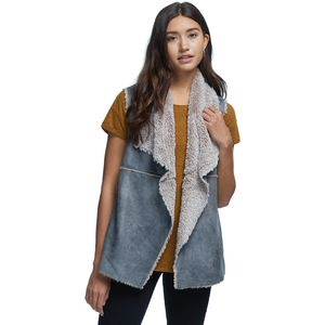 Dylan Maddy Soft Bonded Shearling Reversible Vest - Women's
