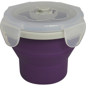 Eco Vessel Snacker Collapsible Silicone Box Food Storage Container
