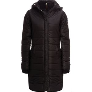 "82 Degrees Fahrenheit Quilted Zip Long 37"" Hood Vest - Women's"