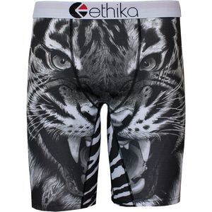 Ethika Staple Print Black Tiger Boxer - Men's
