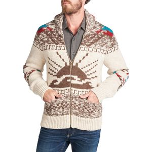 Faherty Sun & Wave Zip Cowichan Sweater - Men's