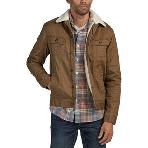 Faherty Canvas Sherpa Stormrider Jacket - Men's
