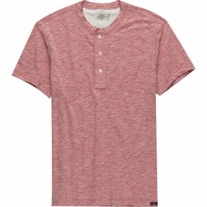 Faherty Short-Sleeve Heather Henley Shirt - Men's
