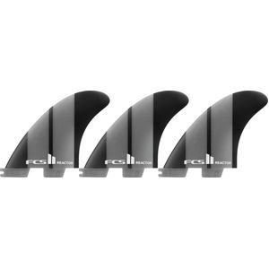 FCS Reactor II Neo Glass Surfboard Fins - Tri Set