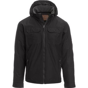 Free Country Poly Canvas Jacket with Hidden Hood - Men's