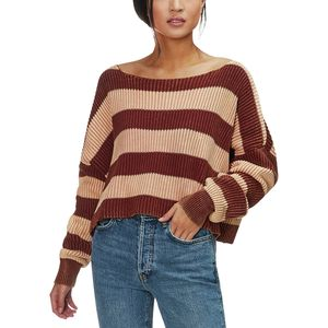 Free People Just My Stripe Pullover - Women's