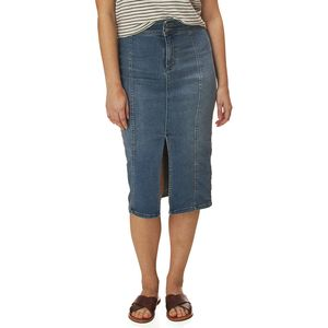 Free People Maddie Denim Midi Skirt - Women's