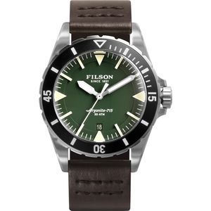 Filson The Dutch Harbor Leather 43mm Watch