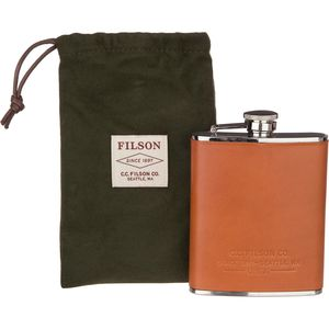 Filson Leather Wrapped Flask