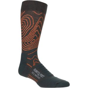 Farm To Feet Elkin Valley Topography Crew Sock - Men's