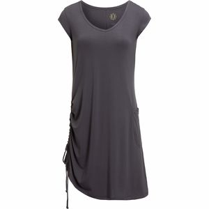 Fu Da Solid Jersey Cap Sleeve Dress - Women's